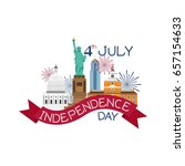 4th of july independence day... | Shutterstock .eps vector #657154633