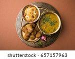 daal baati churma is a popular... | Shutterstock . vector #657157963
