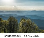 Small photo of Appalachian Mountains in Virginia during evening along Blue Ridge Parkway