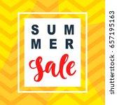 summer sale mobile banner... | Shutterstock .eps vector #657195163