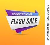 flash sale banner. vector... | Shutterstock .eps vector #657208477