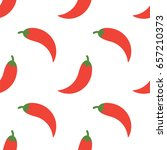 simple flat style red chili... | Shutterstock .eps vector #657210373