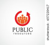 public resources logo vector... | Shutterstock .eps vector #657220417