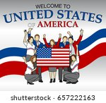 welcome to united states of... | Shutterstock .eps vector #657222163