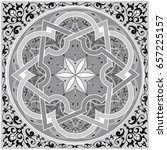 detailed floral scarf design ... | Shutterstock .eps vector #657225157