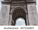 arc de triomphe de l'etoile on...   Shutterstock . vector #657226807