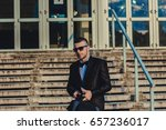 young businessman going to work. | Shutterstock . vector #657236017