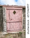 Sun Faded Pink Doorway With...