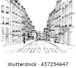 paris street   illustration ...   Shutterstock .eps vector #657254647