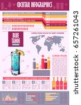 cocktail infographic collection.... | Shutterstock .eps vector #657261043