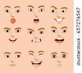different facial expressions of ... | Shutterstock .eps vector #657276547