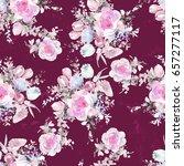 watercolor flowers pattern | Shutterstock . vector #657277117