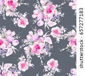 watercolor flowers pattern   Shutterstock . vector #657277183