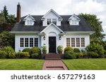 Classic white clapboard house...