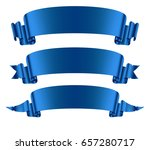 blue ribbons banners set flat... | Shutterstock .eps vector #657280717