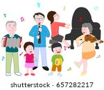 the concert of the family. | Shutterstock .eps vector #657282217