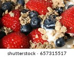 fresh crunchy granola with nuts ... | Shutterstock . vector #657315517