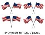 usa flags set of two.  4th july ... | Shutterstock . vector #657318283