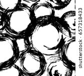 circle seamless pattern.... | Shutterstock .eps vector #657318433