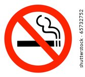 no smoking sign | Shutterstock . vector #65732752