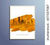 abstract eid mubarak flyer... | Shutterstock .eps vector #657337087