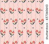 pretty vintage feedsack pattern ... | Shutterstock .eps vector #657360643