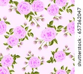 seamless pattern in small cute... | Shutterstock .eps vector #657362047