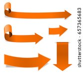 collection of orange arrows.... | Shutterstock .eps vector #657365683