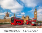 london with red buses against... | Shutterstock . vector #657367207