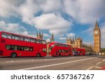london with red buses against... | Shutterstock . vector #657367267