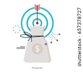 financial planning  budget... | Shutterstock .eps vector #657378727