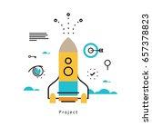 project startup flat vector... | Shutterstock .eps vector #657378823