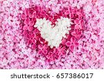 heart shape created from white... | Shutterstock . vector #657386017