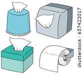 vector set of tissue paper | Shutterstock .eps vector #657422017