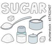 vector set of sugar | Shutterstock .eps vector #657422407