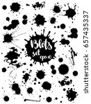 paint blobs  black ink. vector... | Shutterstock .eps vector #657435337
