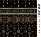 geometric ornament for weaving  ... | Shutterstock .eps vector #657435787
