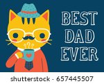 happy father's day greeting... | Shutterstock .eps vector #657445507