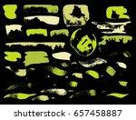 vector brush stroke. grunge ink ... | Shutterstock .eps vector #657458887