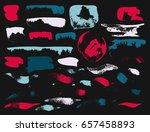 vector brush stroke. grunge ink ... | Shutterstock .eps vector #657458893