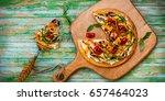 delicious summer appetizer ... | Shutterstock . vector #657464023