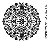 mandala decorative ornament.... | Shutterstock .eps vector #657467143