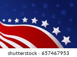 united state of america flag... | Shutterstock .eps vector #657467953