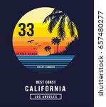 california beach typography  t... | Shutterstock .eps vector #657480277