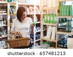 woman choosing products in... | Shutterstock . vector #657481213
