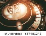 roulette wheel casino game. 3d...   Shutterstock . vector #657481243