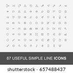 simple line icons set... | Shutterstock .eps vector #657488437