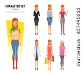 people group of woman different ... | Shutterstock .eps vector #657490213