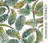 tropical leaves seamless... | Shutterstock .eps vector #657506377