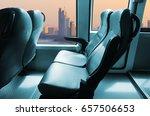 coach bus interior empty seat   ... | Shutterstock . vector #657506653